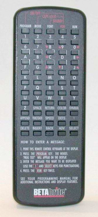 Alpha 215 Programmable Message Display New